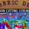 Fabric Den Quilt Shop Ribbon Cutting June 3