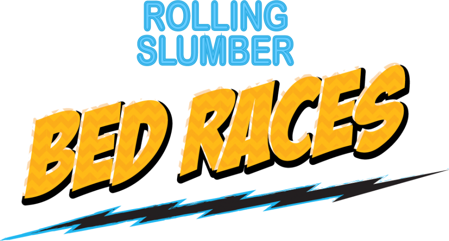 Rolling Slumber Bed Races graphic - Brunswick, Maine