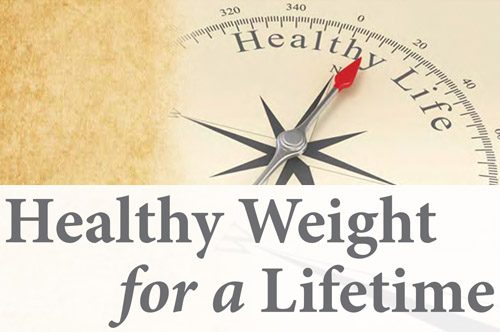 Healthy Weight for a lifetime graphic