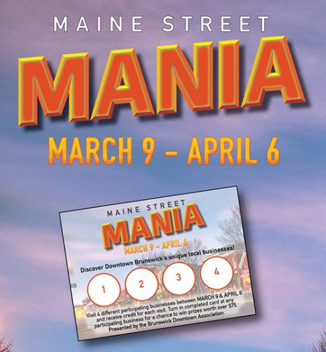 Maine Street Mania downtown Brunswick Shopping Promotion image