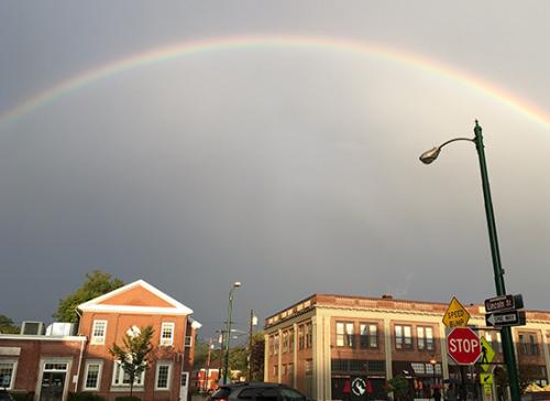 Natures art - Rainbow over Maine Street