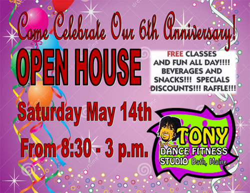 Tony Dance Fitness Studio flyer