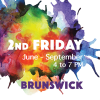 2nd Friday Brunswick - Artwork, music, theater logo