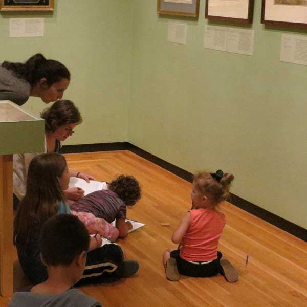 Family Saturday at the Bowdoin College Museum of Art