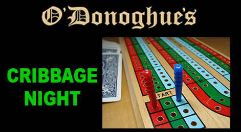 O'Donoghue's Cribbage night graphic