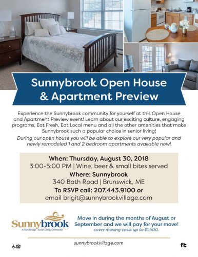 Sunnybrook Open House& Apartment Preview graphic
