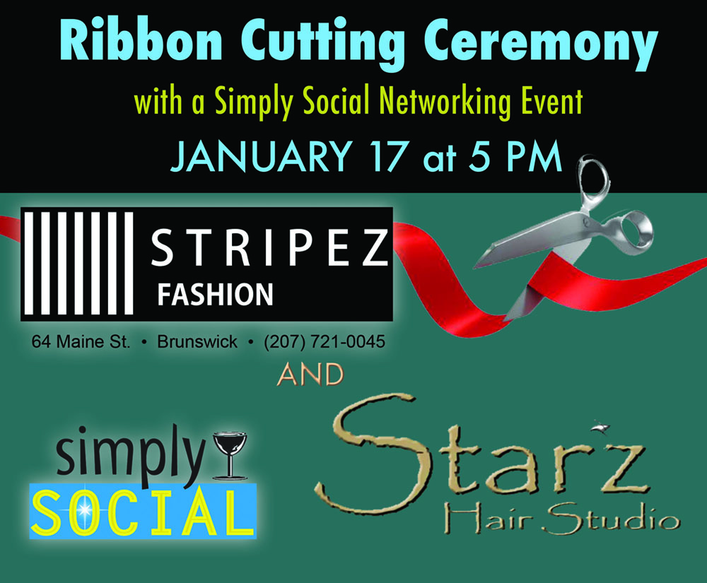 Ribbon Cutting & Simply Social at Starz Hair Studio & Stripez Fashion