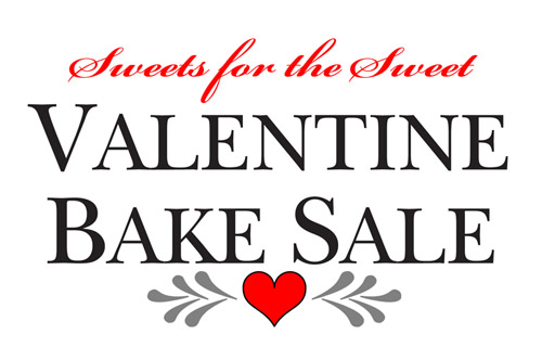 Sweets for the Sweet Valentine Bake Sale