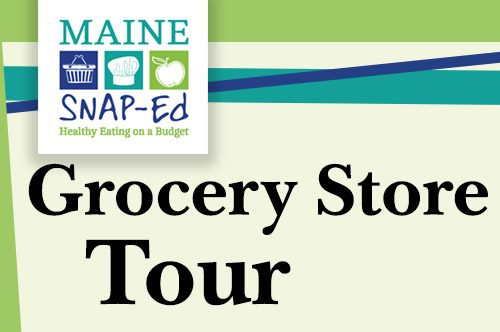 Snap-Ed Grocery Store Tour Hannaford downtown Brunswick