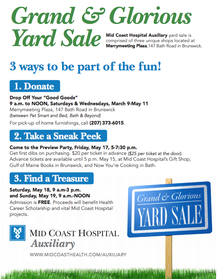 Grand and Glorious Yard Sale poster