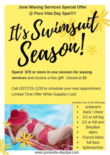 Pura Vida Day Spa Waxing Special for Brunswick Downtown Association website