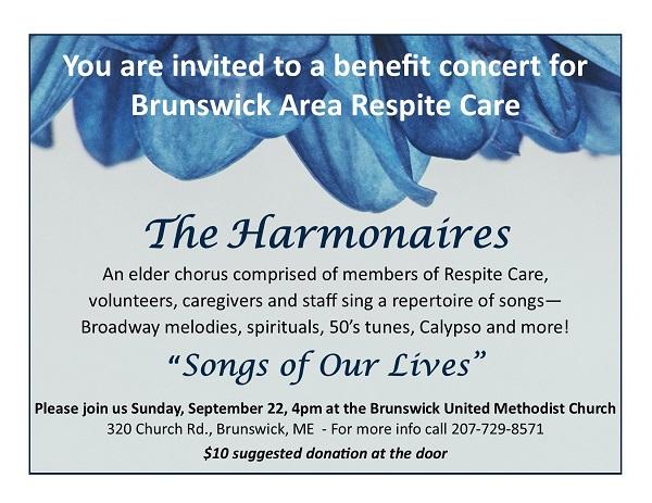 """The Harmonaires"" Benefit Concert for Brunswick Area Respite Care"