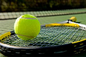 Maine Pines Beginner Tennis clinic photo of tennis racket