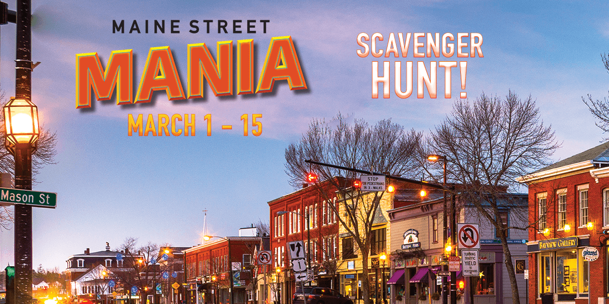 Maine Street Mania Scavenger Hunt graphic