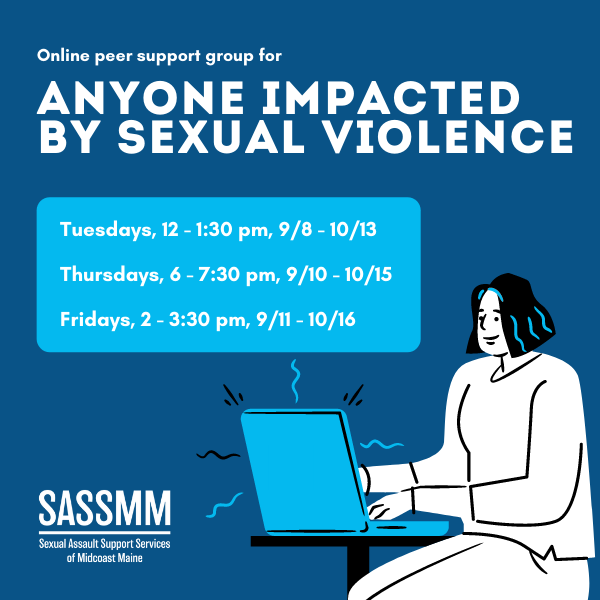 Online Support Group for Anyone Impacted by Sexual Violence