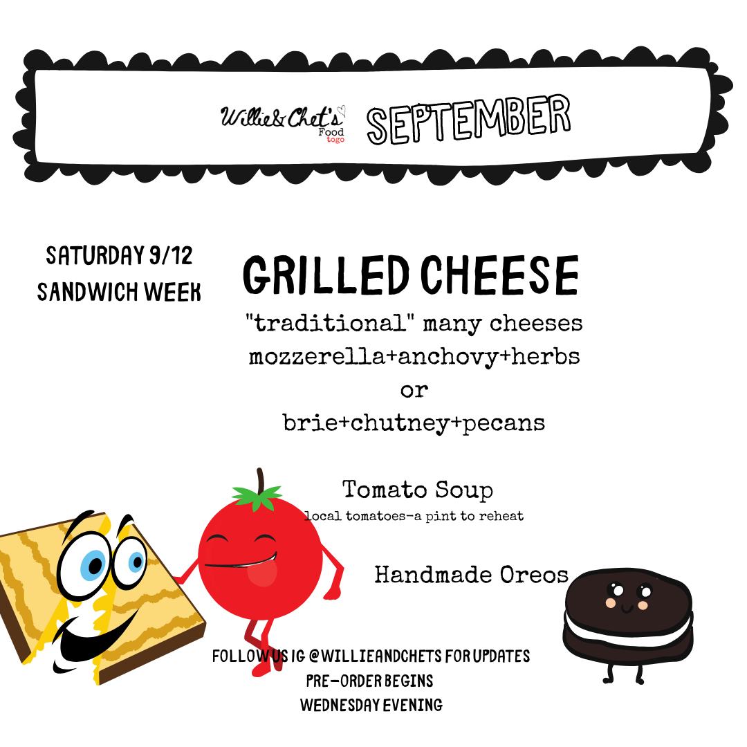 Sandwich Week: Grilled Cheeses, Tomato Soup & Homemade Oreos