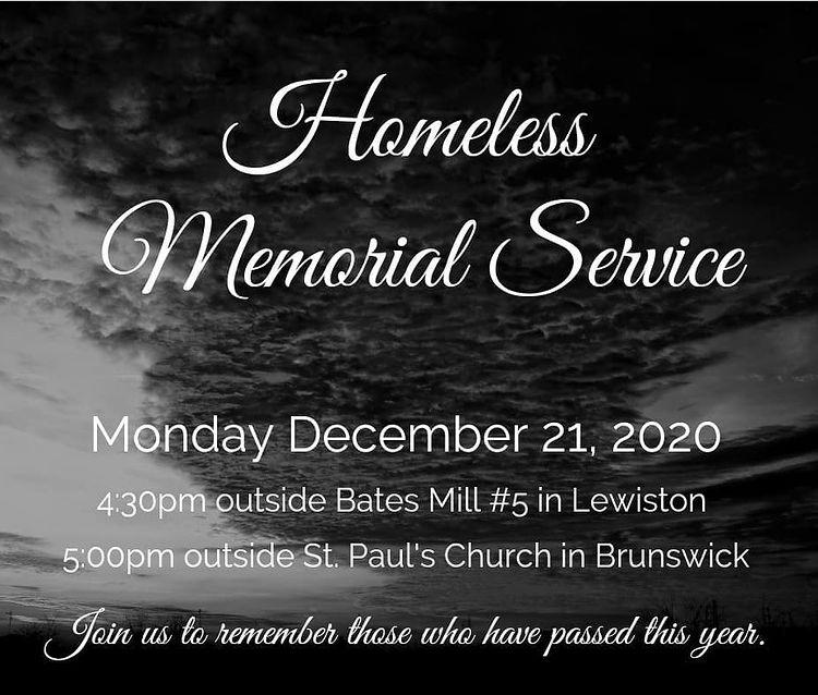 Homeless Memorial Service