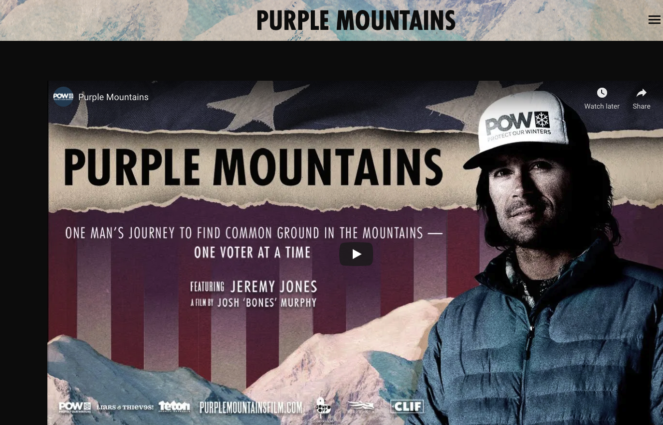 Films in February:  Discussion of Purple Mountains