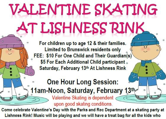 Valentine Skating Fun at Lishness Rink