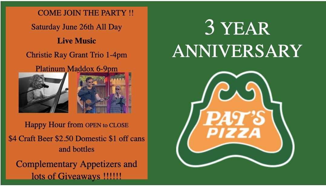 Pat's Pizza Brunswick - 3rd Anniversary